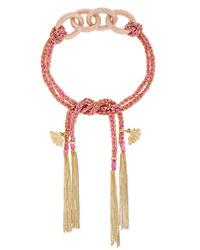 Carolina Bucci Dream Lucky 18 Karat Gold And Silk Bracelet
