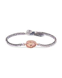Brooke Gregson Orbit 14 Karat Gold Sterling Silver Silk And Ametrine Bracelet
