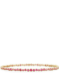 Ippolita Stardust 18k Dark Pink Sapphire Bangle Bracelet