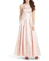 Xscape Evenings Xscape Lace Up Side Brocade Ballgown