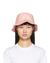 Acne Studios Pink Face Bucket Hat