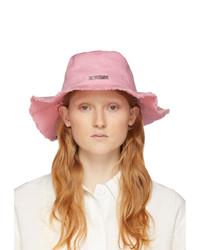 Jacquemus Pink Le Bob Artichaut Bucket Hat