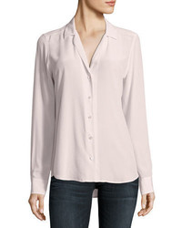 Equipment Adalyn Silk Long Sleeve Blouse