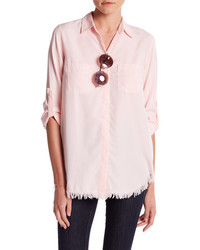 Beachlunchlounge Clarice Long Sleeve Button Down Blouse