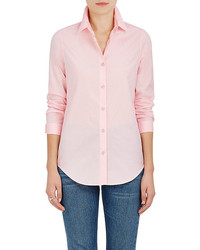 Barneys New York Cotton Poplin Button Down Blouse