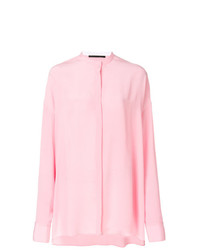 Haider Ackermann Oversized Collarless Shirt