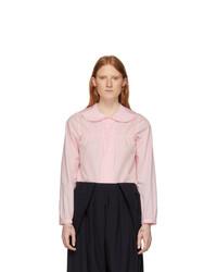 Comme Des Garçons Girl Pink Peter Pan Collar Blouse