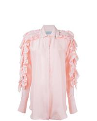 Preen by Thornton Bregazzi Ruffled Sleeve Shirt