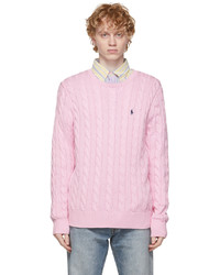 Polo Ralph Lauren Pink Cable Knit Sweater