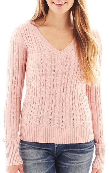 Arizona V Neck Cable Knit Sweater Where To Buy How To Wear