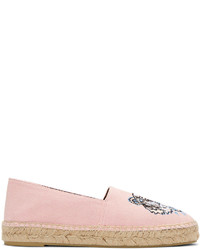 Pink canvas tiger espadrilles medium 4391940