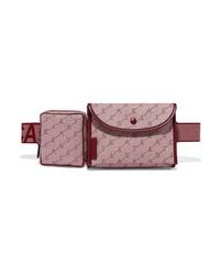 Stella McCartney Faux Med Canvas Jacquard Belt Bag
