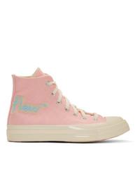 Converse Pink Golf Le Fleur Chuck 70 Hi Sneakers
