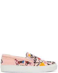Pink limited edition i love you k skate slip on sneakers medium 4391960