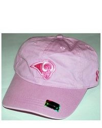 Reebok St Louis Rams Hat Cap Pink Susan G Ko Relax Adjustable