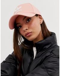 adidas Originals Trefoil Logo Cap In Pink
