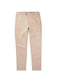 Brunello Cucinelli Linen And Cotton Blend Trousers