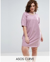 Asos Curve Curve T Shirt Dress With Open Neck Detail