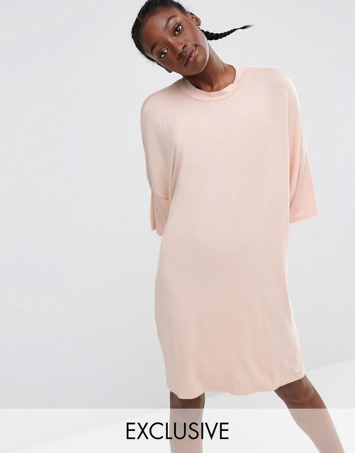 bb0cf3decf067 Monki Oversized T Shirt Midi Dress, $31   Asos   Lookastic.com