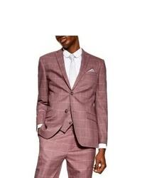 Topman Slim Fit Windowpane Suit Jacket