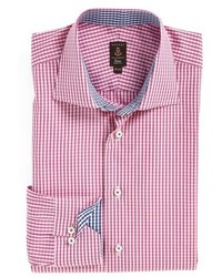 Pink Check Dress Shirt