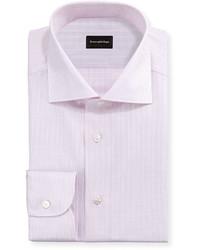 Ermenegildo Zegna Check Woven Dress Shirt Light Pink