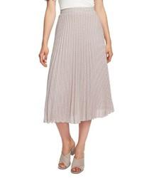 1 STATE Fine Puppytooth Pleated Midi Skirt