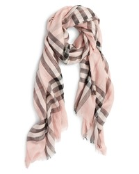 Burberry Giant Check Print Scarf