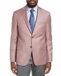 Hart Schaffner Marx New York Classic Fit Windowpane Wool Sport Coat