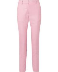 Calvin Klein 205W39nyc Checked Wool Straight Leg Pants