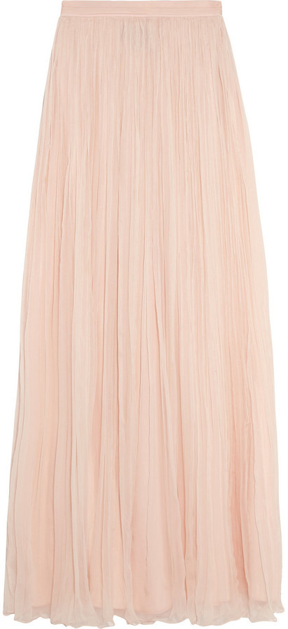 a749e08165 Needle & Thread Crinkled Chiffon Maxi Skirt Blush, $240 | NET-A ...