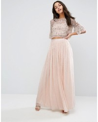e2d945a5a6 Pink Chiffon Maxi Skirts for Women | Women's Fashion | Lookastic.com