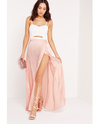 e3063d8cfe Pink Chiffon Maxi Skirts for Women | Women's Fashion | Lookastic.com