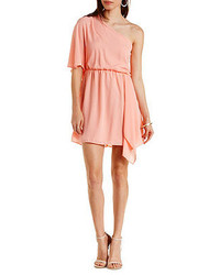 Charlotte Russe One Shoulder Asymmetrical Chiffon Dress