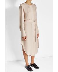 Calvin Klein Collection Silk Chiffon Shirt Dress