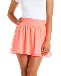 Charlotte russe neon chiffon mini skirt medium 125789