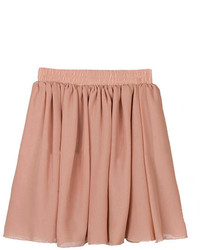 Chicnova soft peach chiffon skater skirt medium 125788