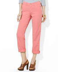 Lauren Ralph Lauren Petite Rolled Cuff Cotton Chino Pants