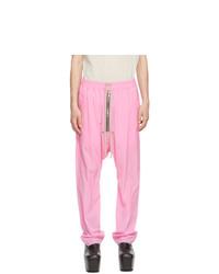 Rick Owens Pink Bela Trousers