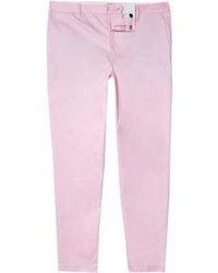 River Island Pink Cropped Skinny Chino Trousers