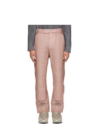 Craig Green Pink Quilted Skin Trousers