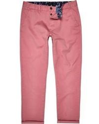River Island Pink Slim Chino Pants