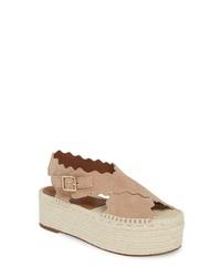 Chloé Lauren Scalloped Flatform Sandal
