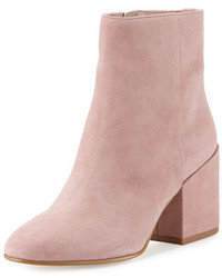 Sam Edelman Taye Suede Chunky Heel Bootie Pink Mauve