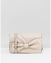Aldo Blush Bow Clutch With Crossbody Strap