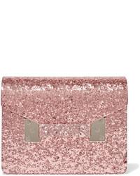 Compton glittered perspex clutch pink medium 1030661