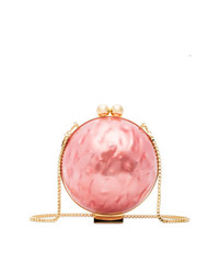 Marzook Pink Lucid Pearlescent Sphere Clutch