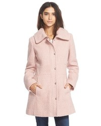 Basket weave fit flare coat medium 376464