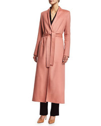 The Row Belton Long Lean Coat Cinder Rose