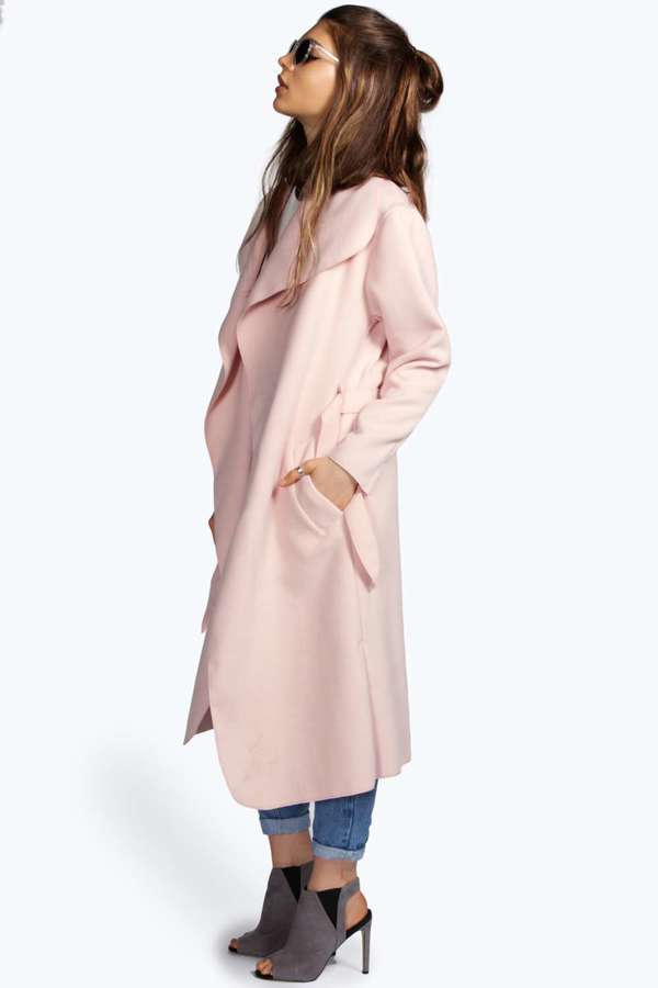 Boohoo Kate Belted Shawl Collar Coat | Where to buy &amp how to wear